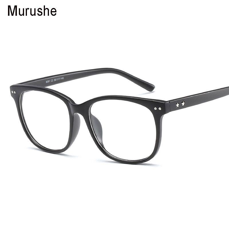 Murushe Retro Round Eyewear Clear Glasses Spectacles Optical Eye ...