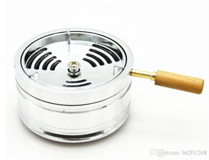 New stainless steel aluminum alloy ashtray, glass, smoke pot, carbon stove, smoking set.