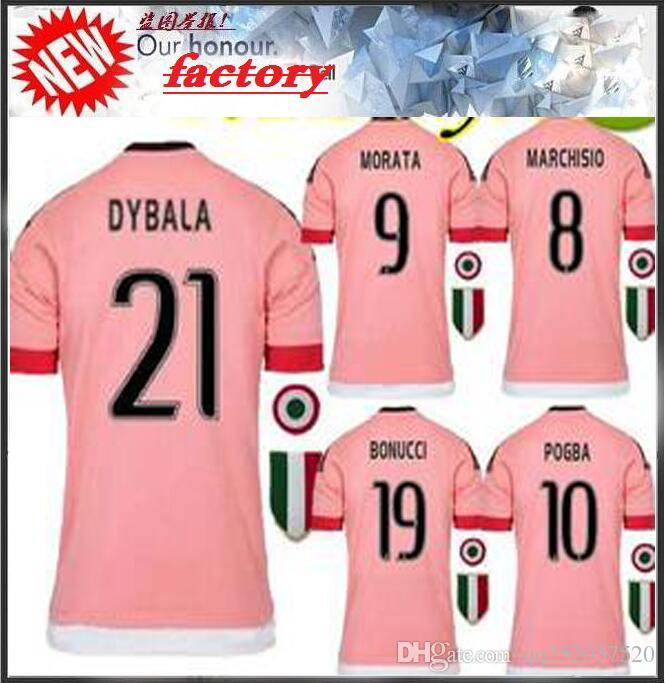 45fccd2a2a7 2016 BEST QUALITY Italy POGBA JUVENTUS SOCCER JERSEYS 15 16 DYBALA ...