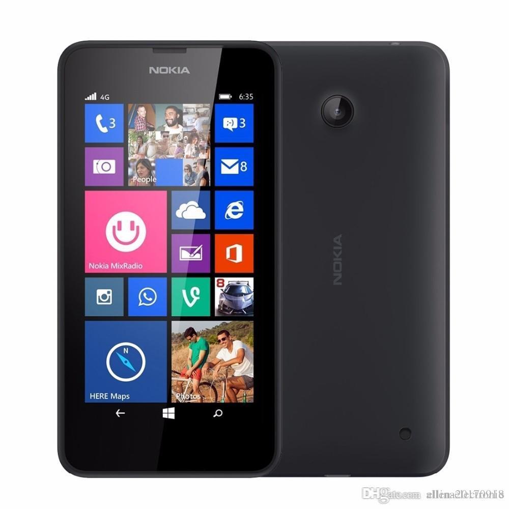b3014b14e92 Que Movil Comprar 2016 Restaurado Original ParaLumia 635 Teléfono De Windows  4.5 Quad Core 1.2ghz 8g Rom 5.0mp Wifi Gps Desbloqueado 4g Lte Teléfono ...