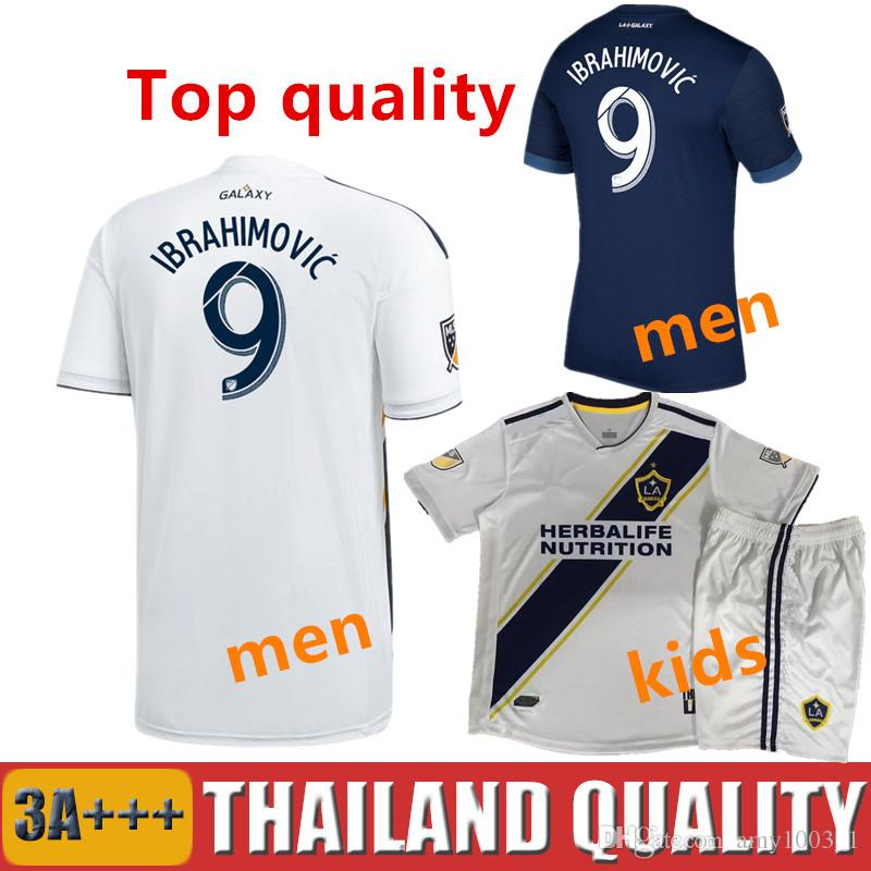 Los Angeles 2018 2019 LA GALAXY IBRAHIMOVIC SOCCER JERSEYS 18 19 J ... e7241c529