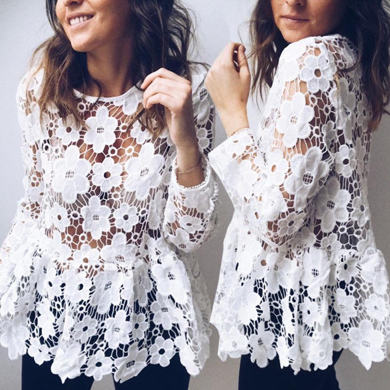 Fashion Casual Womens Ladies Blouses Lace Short Wedding Bridesmaid