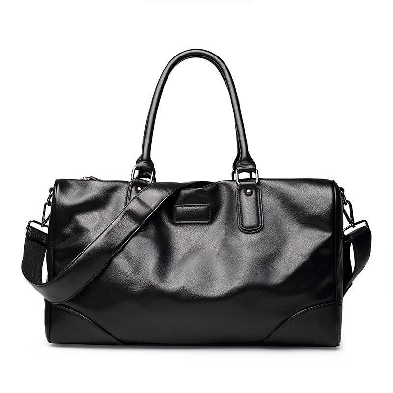 b3229ba670 GUMST Men S Travel Bags Brand Luggage Waterproof Suitcase Duffel Bag Large  Capacity Casual Leather Handbag Fashion Solid Halliburton Suitcase Womens  ...