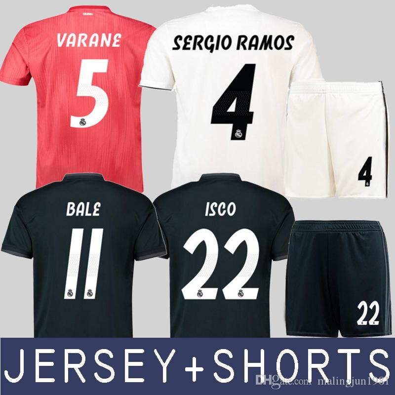 18 19 Camiseta De Fútbol Real Madrid Sergio Ramos Kroos Camiseta De Fútbol  Marcelo Asensio 2019 Camiseta Benzema Vinicius Junior Varane Maillot Por ... 30a13caebb9d9