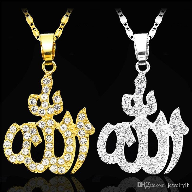 Wholesale uodesign hip hop arabic muslim pendants necklaces gold wholesale uodesign hip hop arabic muslim pendants necklaces gold alloy bling iced out islamic necklace islam jewelry kka1836 pendants for necklace pendant aloadofball Images
