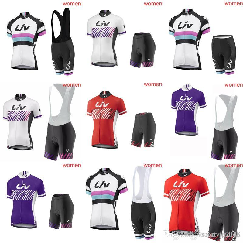 LIV Cycling Short Sleeves Jersey Bib Shorts Sets 2018 Hot WomenOutdoor Cycling  Jersey Mountain Bike Wear Fashion Wearable C2919 LIV Cycling Jersey Cycling  ... b32135d8f
