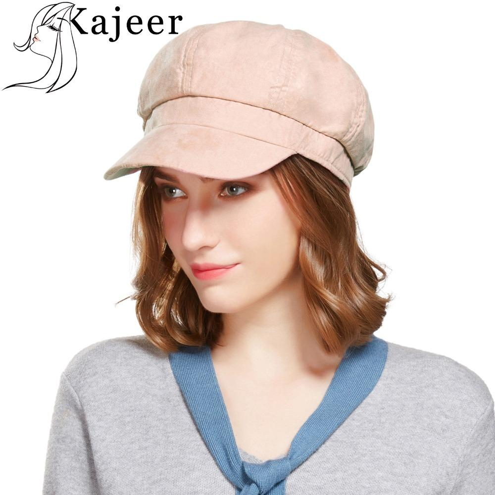 8df6ea56f Kajeer Top Fashion Solid Newsboy Caps Men And Women Warm cotton Octagonal  Hats For Autumn And Winter Unisex Casual Beret Toucas