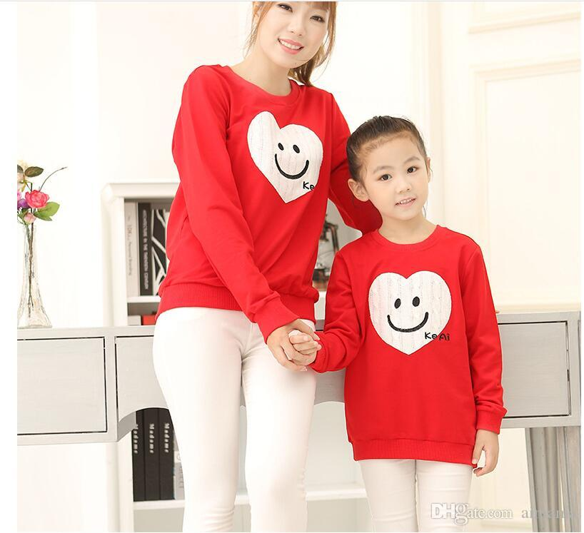 441a6491f3dc 2018 New Autumn And Winter Korean Version Parent Child Outfit Love ...
