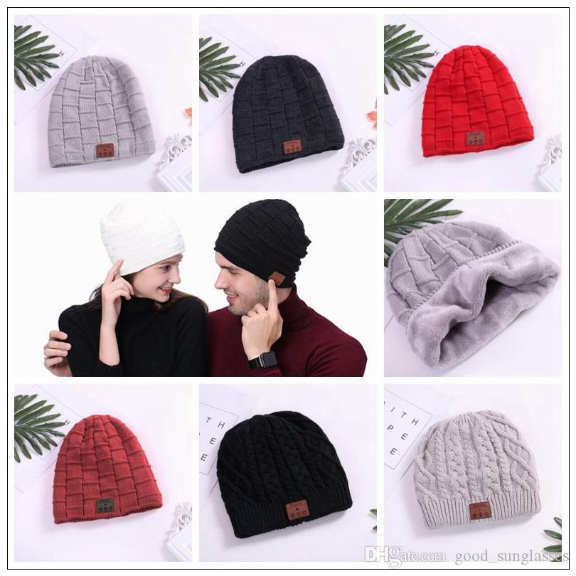 27530ecab10 Wireless Bluetooth Beanies Sport Music Hat Smart Headset Cap Warm Winter Hat  With Mic Speaker For All Smart Phones CCA8866 Cap Fedora From  Good sunglasses