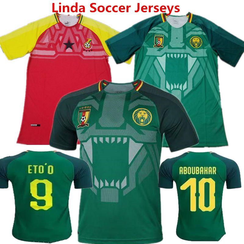 Football Shirts Cameroon 2018 Russia Word Cup Soccer Jerseys ETO O ... a8b944f69