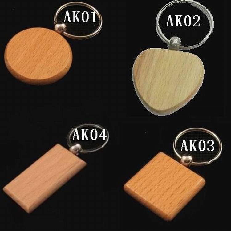 Blank Wooden Key Chain Promotion Rectangle Carving Key ring Rectangle Wood Key Chain