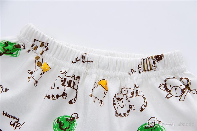 AbaoDo new arrival summer kids clothing set 100% cotton baby home clothes short sleeve Tee shirt pants set drop shipping #green bear