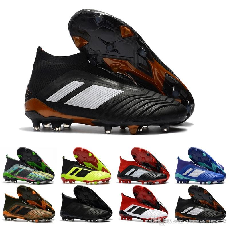 10af7d1c1 Online Cheap Mens High Ankle Football Shoes Predator 18+ FG Soccer Cleats  For Men Predator 18.1 Outdoor Soccer Shoes US6.5-11 Soccer Shoes Football  Cleats ...