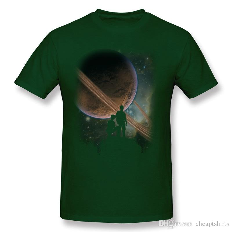 New Coming Hombre 100% Cotton Hillside Planet T-Shirts Hombre O Neck Dark Green Short Sleeve T Shirt 3XL Custom T-Shirts