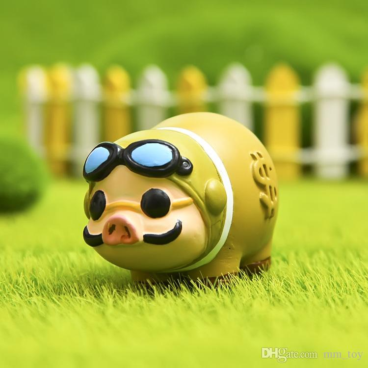 Cute Pig DIY Landscaping Decoration Home Collection Dolls Garden Ornaments Micro Pot Gardening Accessories