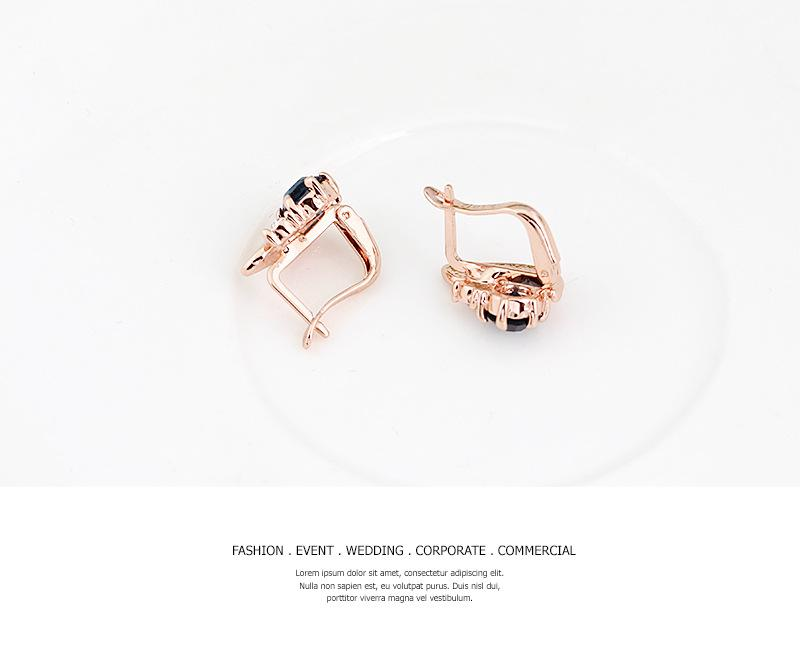 Women 18K Gold Plated Alloy Rhinestone Jewelry Set Chain Choker Necklace Stud Earrings Cuff Bangle Bracelet Ring Set For Wedding