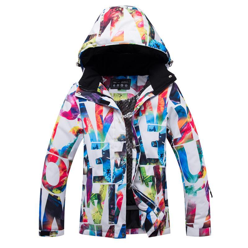 new product 15563 88c86 ARCTIC QUEEN Giacche da sci Donna Giacca da snowboard Donna Inverno  Abbigliamento sportivo Giacca da sci da neve Impermeabile traspirante  Antivento