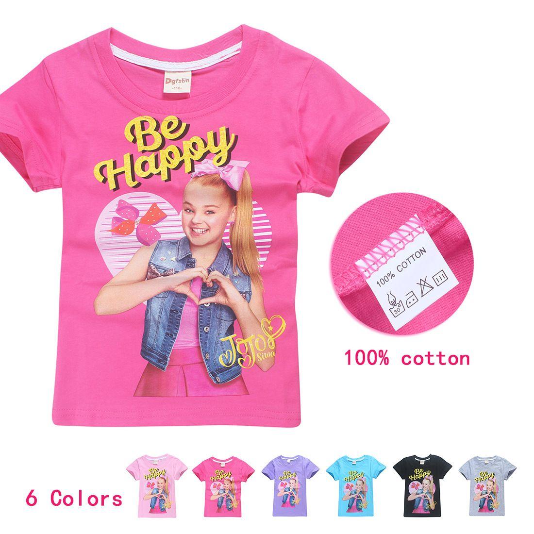 2018 Hot Sale Children s Fashion Teens T Shirt Girls Jojo Siwa Clothing  Casual Sunmmer Short Sleeves Tops Cartoon Baby Clothes Baby Girl Summer  Clothing . 836e5049a114