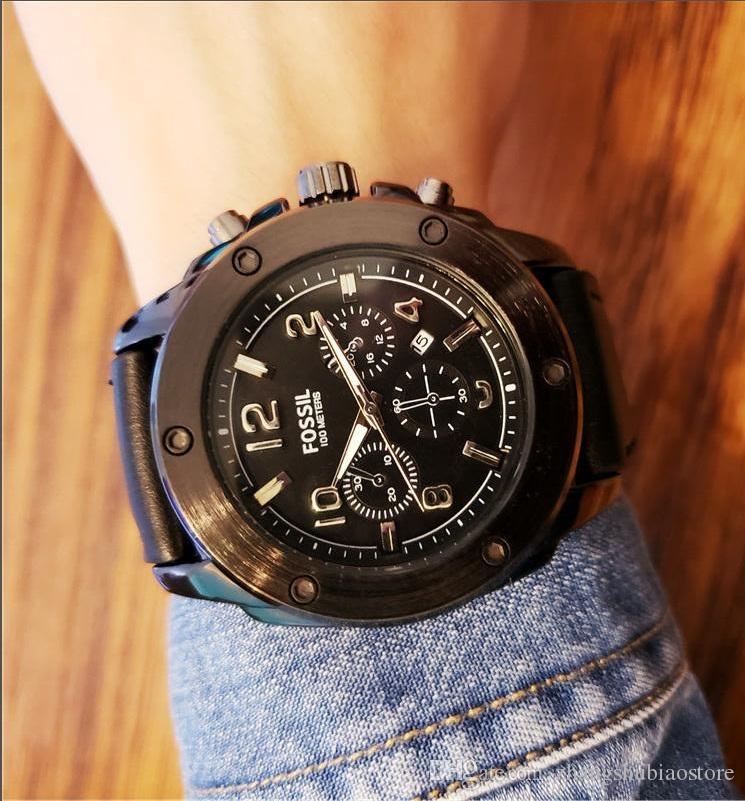 f39b7e422d39 Compre Marca Sport Wirstwatch Hombres Relogio Masculino Males Correa De  Cuero Relojes Causal Japón Reloj De Cuarzo Para Hombre Reloj Militar A   38.56 Del ...
