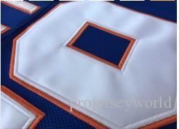 "Mens Stitched Hockey Jersey Doug ""The Thug"" Glatt Halifax Highlanders #69 GOON Movie Blue Vintage Ice Hockey Jersey Size S-3XL"