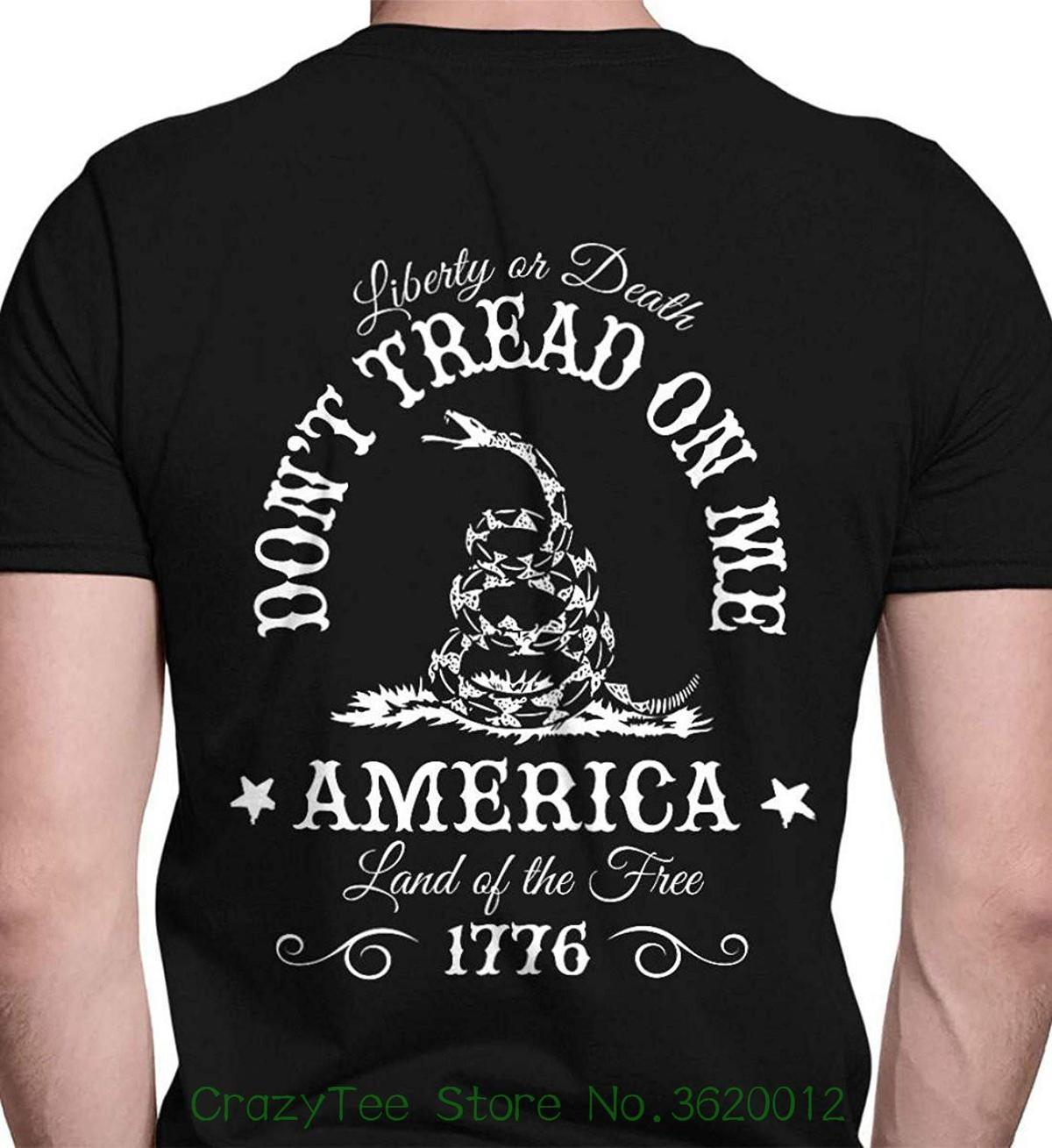 9ff62324 Short Sleeve T-shirt Free Shipping Sons Of Liberty Don't Tread On Me.  Liberty Or Death. Port & Co. T-shirt