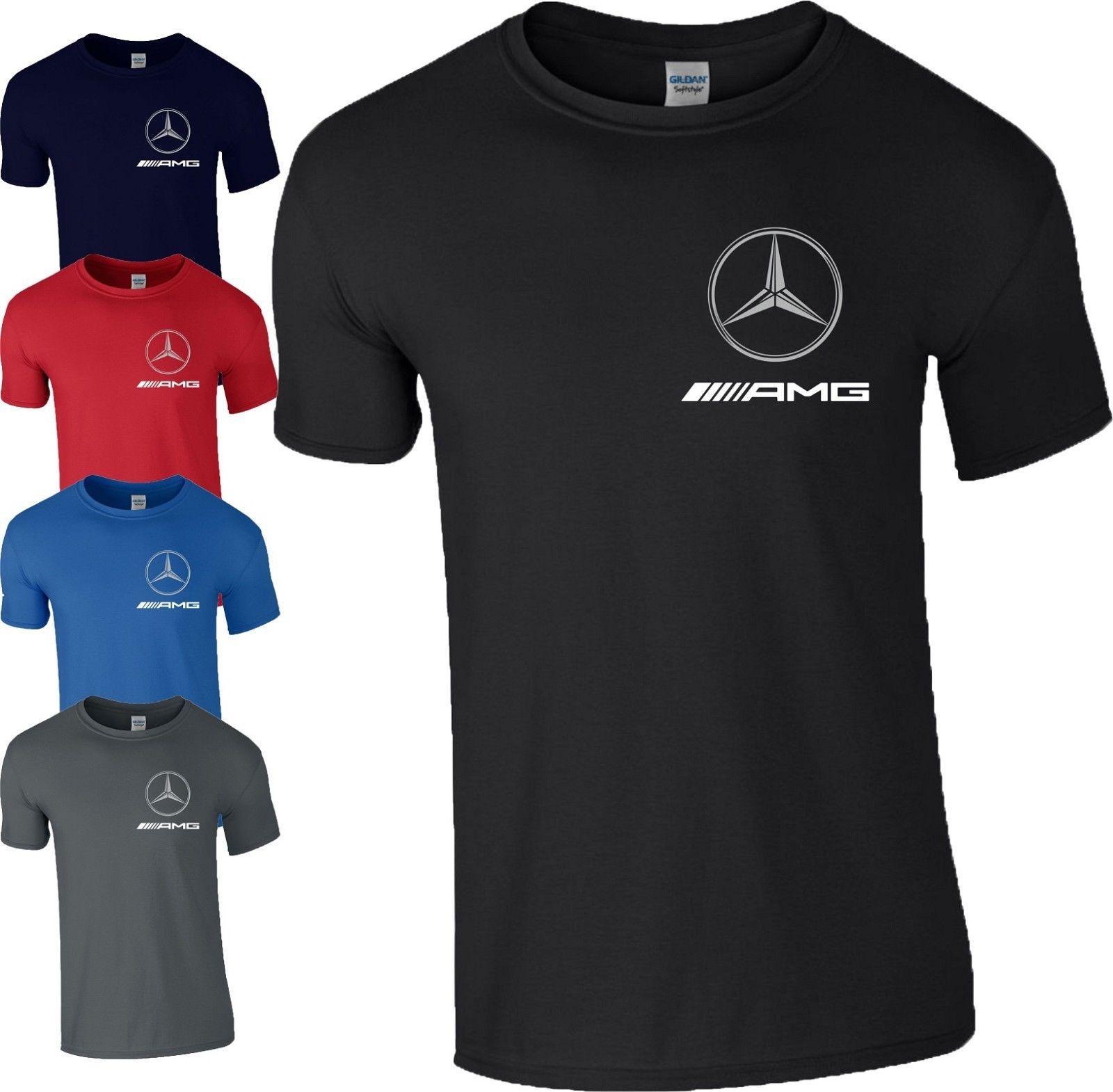 mercedes amg logo t shirt f1 formula one motorsport racing. Black Bedroom Furniture Sets. Home Design Ideas