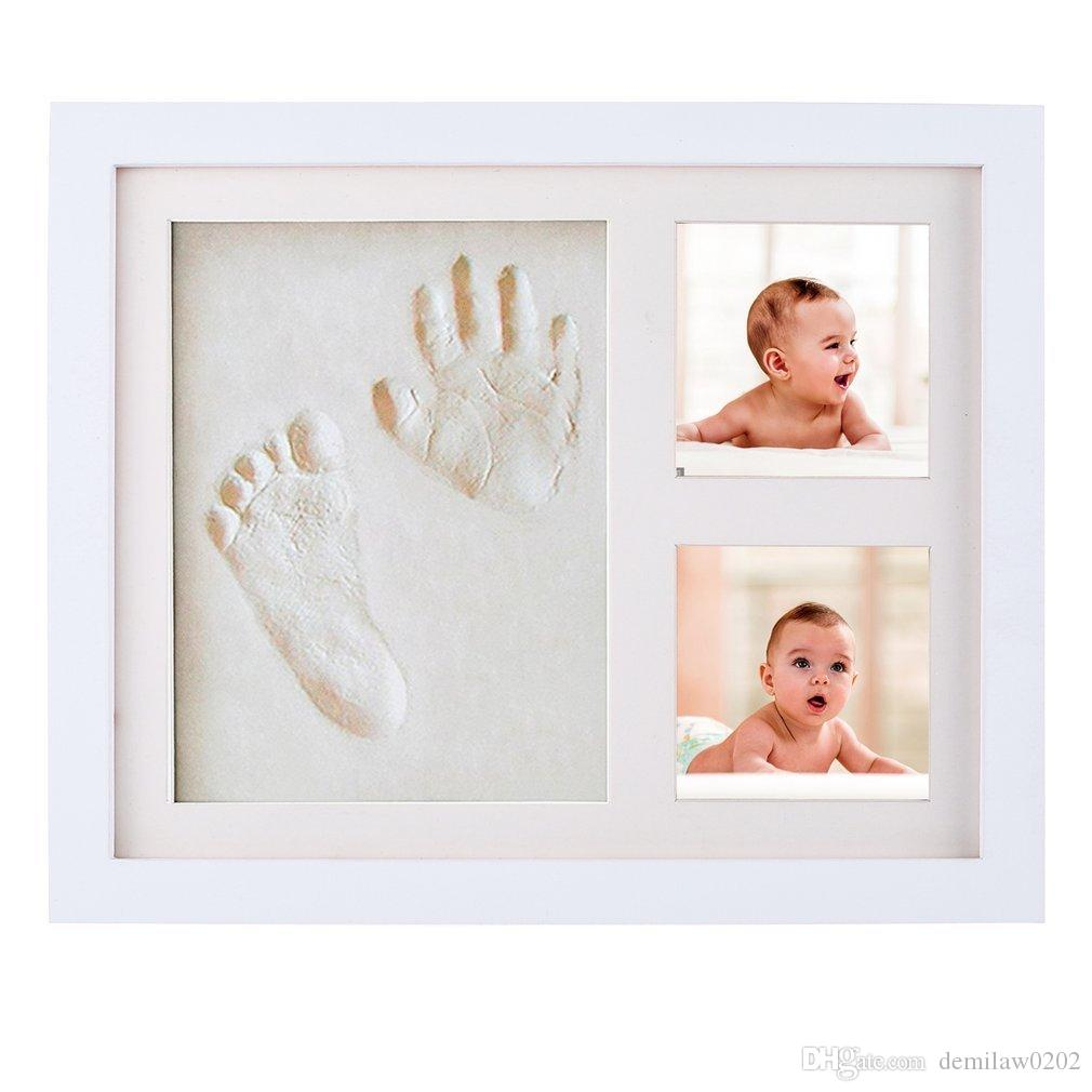 Obcanoe Baby Clay Handprint Footprint Frame Kit Baby Shower Gifts ...