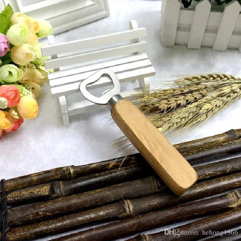 Stainless Steel Bottle Opener Wooden Handle Wine Beer Openers Originality Concise Party Bar Kitchen Tools Gift 1 6cy UU