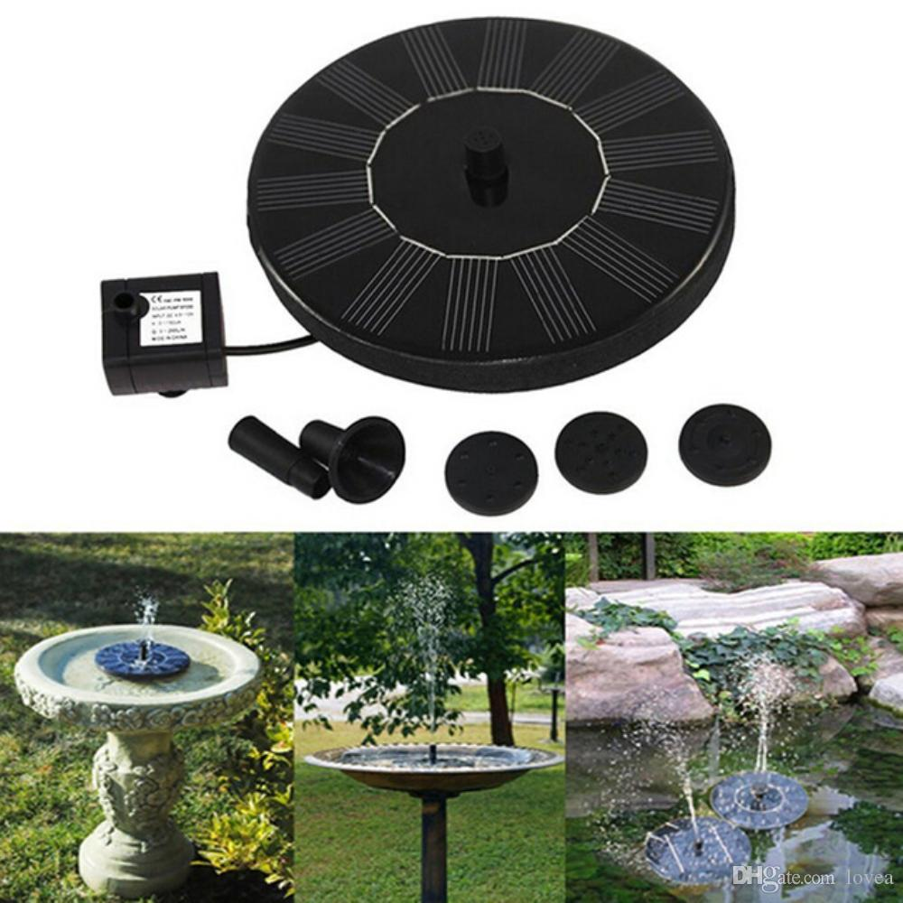 Merveilleux 2018 Floating Solar Powered Garden Water Fountain Pump For Pond Patio  Decoration Hot 4 Different Spray Heads For Bird Bath, Fish Tank, Small Pond  From Lovea ...