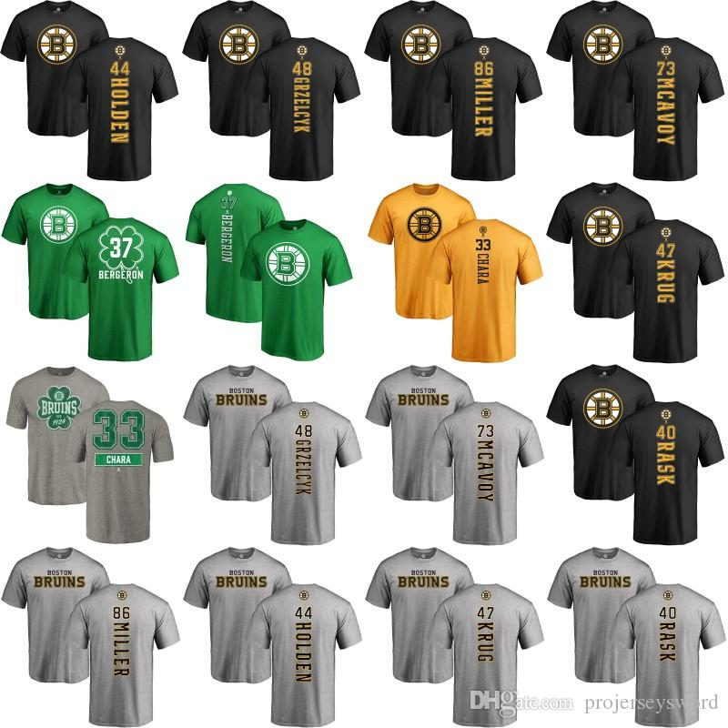 9c9b642bc 2019 Mens Boston Bruins T Shirt 33 Zdeno Chara 35 Anton Khudobin 40 Tuukka  Rask 44 Nick Holden 47 Torey Krug 86 Kevan Miller Custom Jerseys From ...