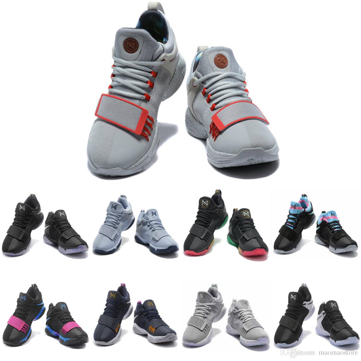 546ce5e0f51 2019 PG 1 Zoom Men Basketball Shoes Glacier Grey Ivory Ferocity Paul George  Sneakers Low Mens Sport Shoe PG1 Trainer Sneaker Black Red White From ...