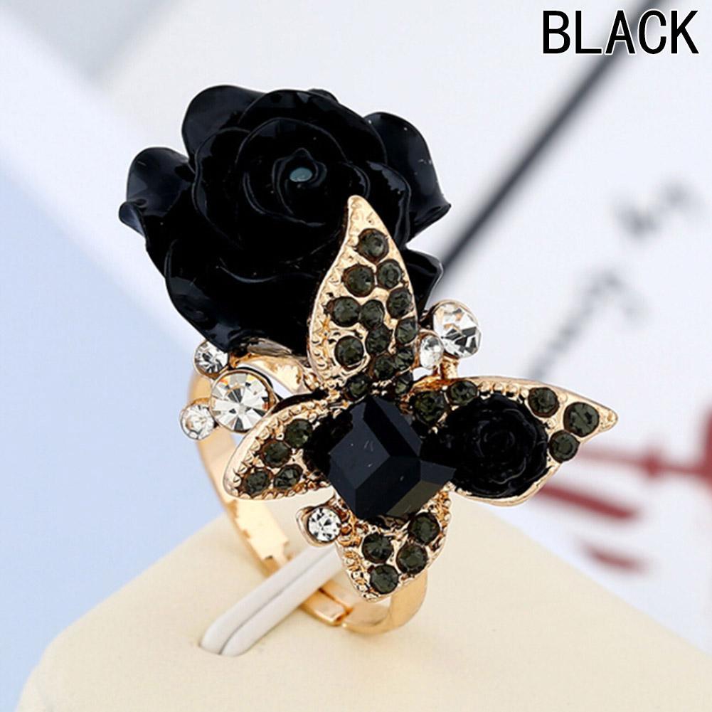 a45aaa5b4cb8 Compre Mariposa Flor Anillos Ajustables Para Mujer Moda Elegante Joyería  Bijouterie Anillos Bague Femme Cóctel Boda A  22.44 Del W245