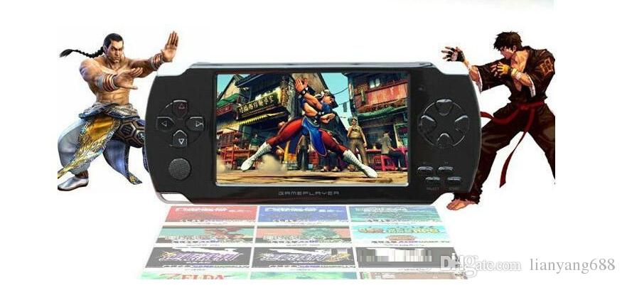 PMP 4GB/8GB handheld Game Console 4.3 inch screen mp4 player MP5 game player real 8GB support for psp game,camera,video,e-book NEW