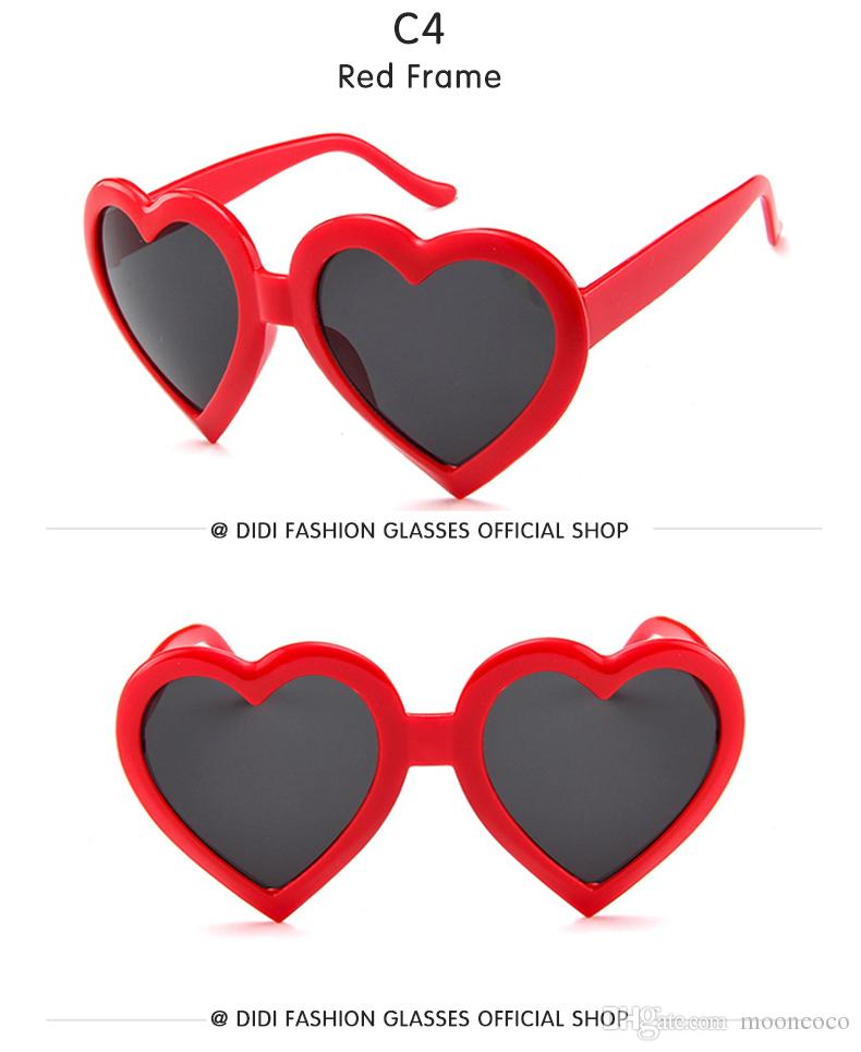 2018 NEW Top Grace Woman Heart Shape Pink Sunglasses European American Transparent Goggle Plastic Frame Christmas Gift Eyeglass