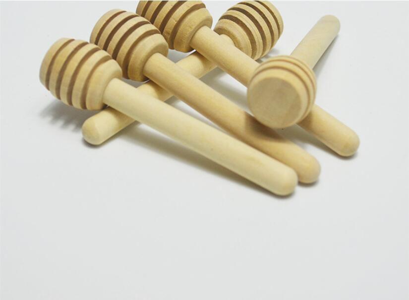 8 см длиной мини деревянные мед палку мед ковши партии поставок древесины мед ложка Бесплатная доставка