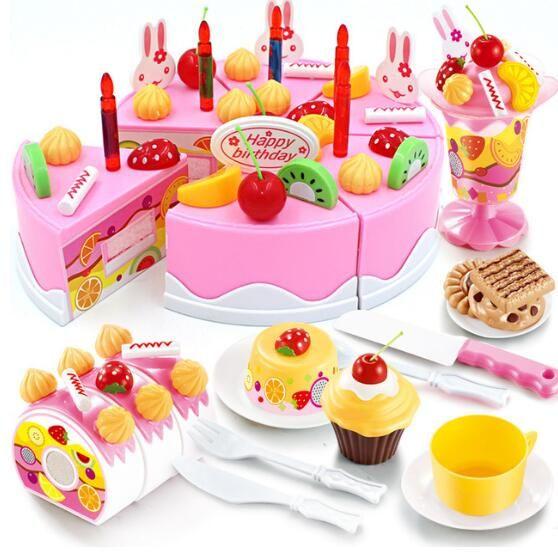 38 75pcs Diy Pretend Play Fruit Cutting Birthday
