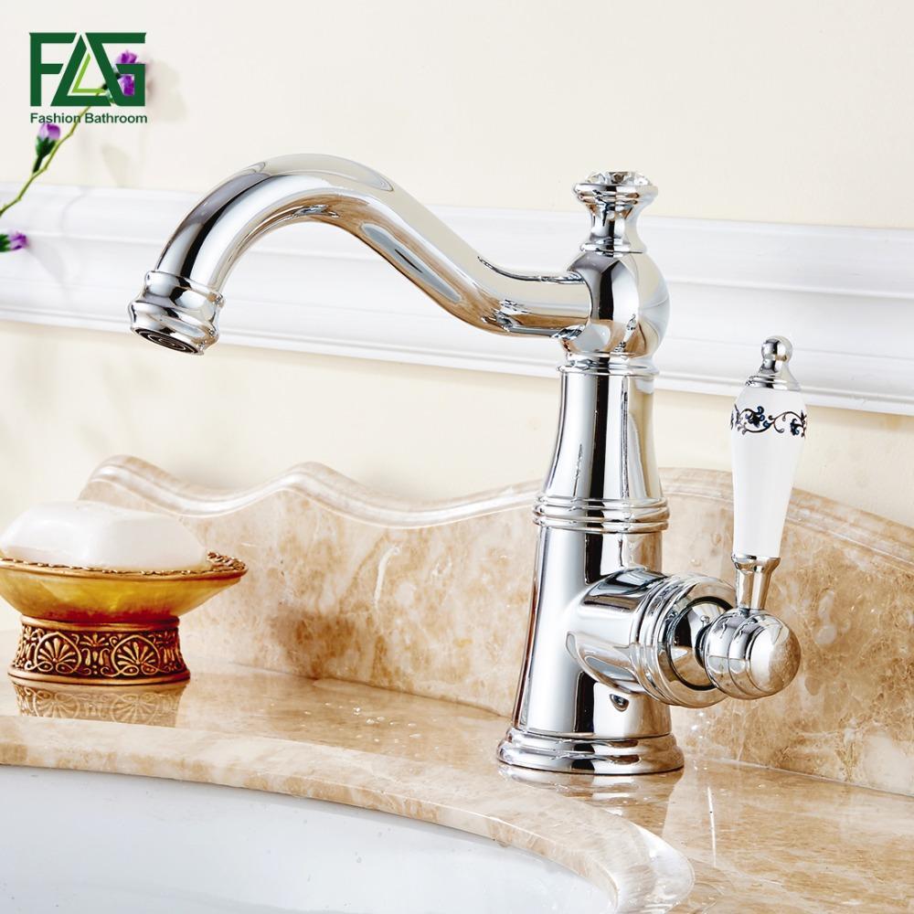 2018 Flg European Aristocratic Basin Faucet Chrome Polished Tap ...