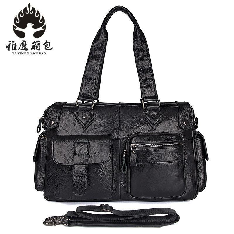 e6be5b5112 Genuinie Leather Travel Bags Men Duffle Overnight Weekender Bag Carry On  Shoulder Luggage Men S Business Travel Bags Buy Bags Online Bags Online  Shopping …