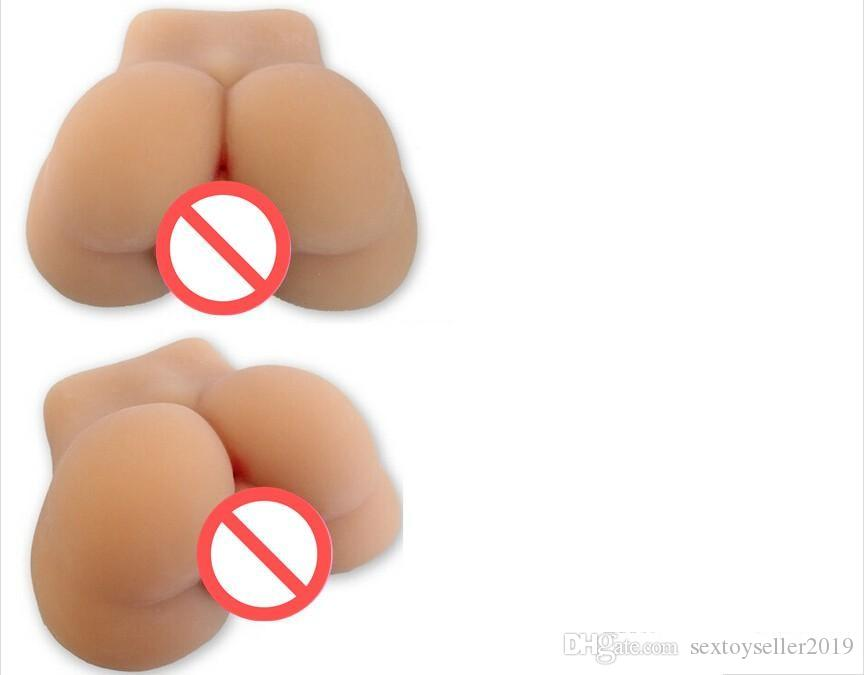 Full silicone doll male big ass buttocks with real didymus testicle for gay man homosexual sex toys