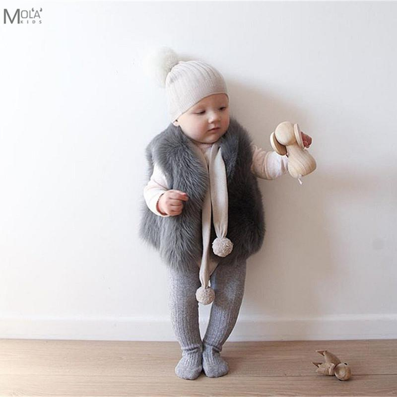 e29046a6f Baby Fur Coat Real Fur Clothes Infant Winter Vest Toddler Boys Girl ...