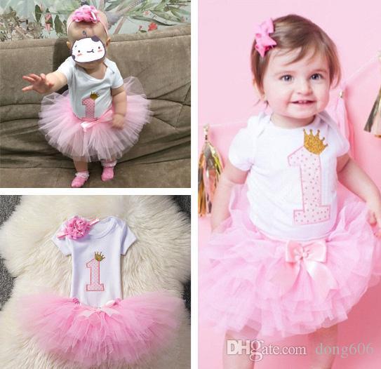 Grosshandel Baby Madchen Ersten 1 Geburtstag Outfit Tutu Rock Kleid