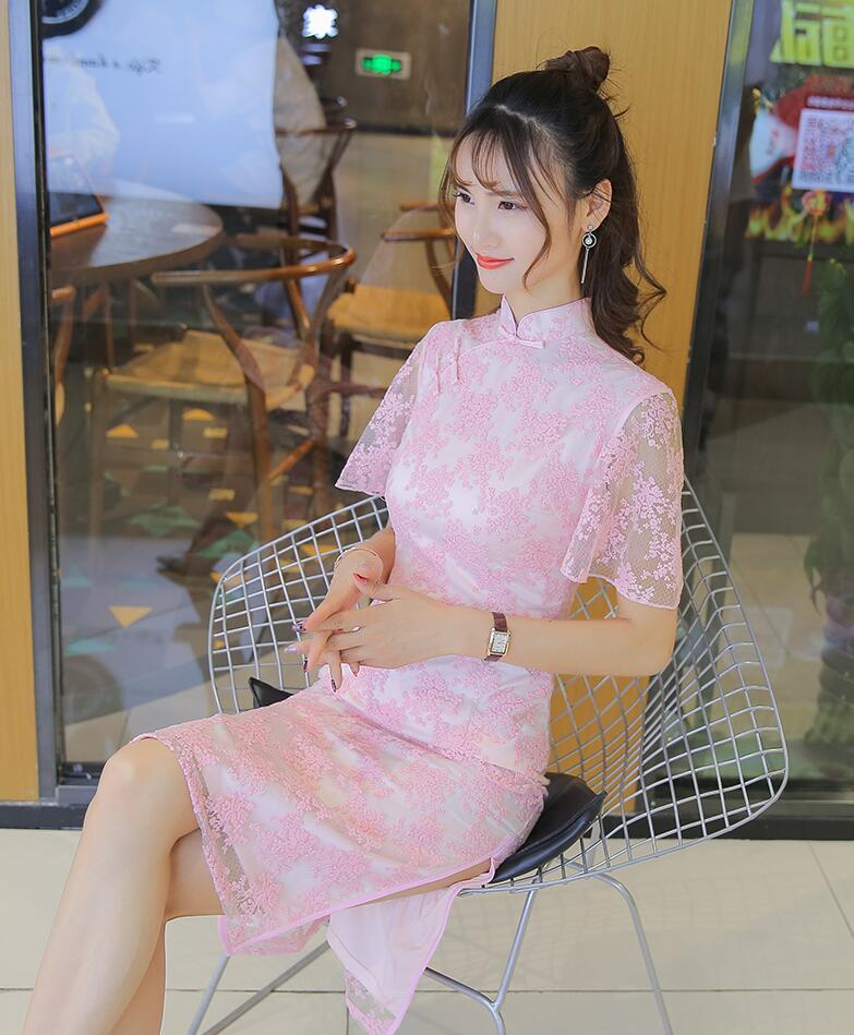 2019 2018 Summer Red Mermaid Wedding Lace Traditional Dresses For