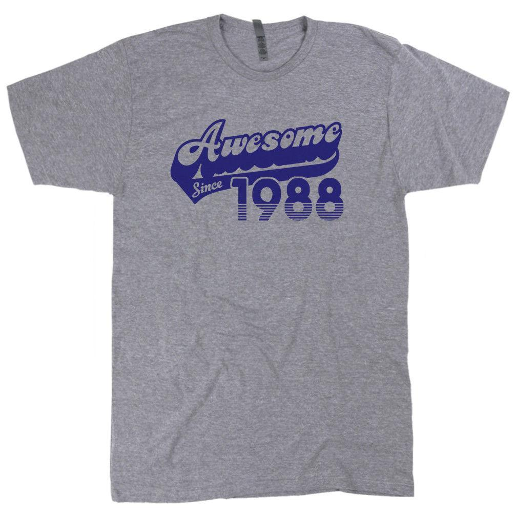 Awesome Since 1988 T Shirt Funny 30th Birthday Gift For Mens Womens Vintage Tee Funniest Shirts From Kiki005 1277