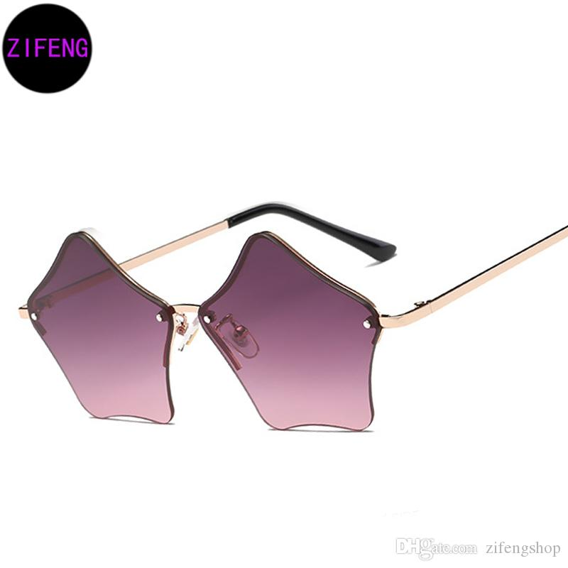 Japan Und Südkorea Mode Trend Damen Metall Rahmen Sonnenbrillen,A4