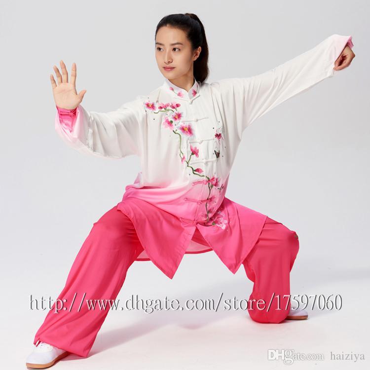 Chinese Tai chi garment wushu uniform kungfu clothing Martial arts suit  taiji outfit Qigong for men women children girl boy kids adults