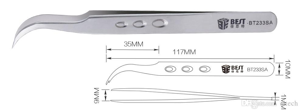 Pince à épiler en plastique sûre résistante à la chaleur d'ESD d'anti pince statique fixée pour les outils de réparation de tablettes de téléphone portable