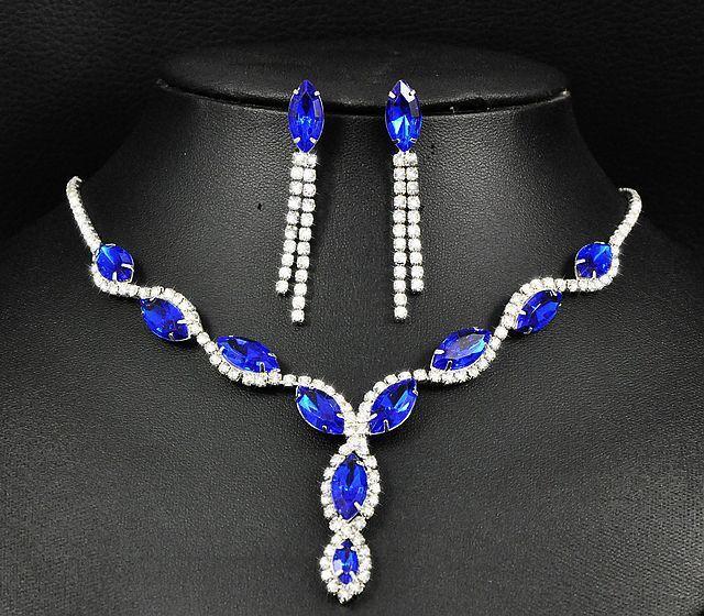 Collana di cristallo imitazione orecchini nappati collana orecchini set