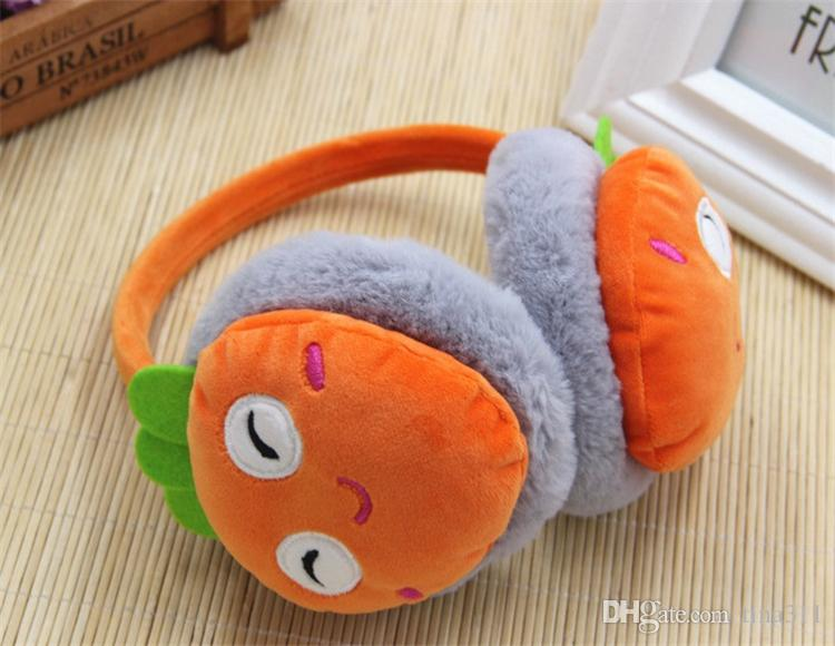 Boys and Girls Winter Warm Lovely Cartoon Plush Children adults Earmuffs Ear Fruit Series Watermelon Strawberry Thick Kids Ear Muffs T2C063