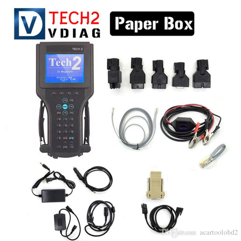 2018 Newest For Gm Tech 2 Scanner Gm Diagnostic Tool High Performance Gm  Tech2 6 Softwares with Free DHL Shipping without black box