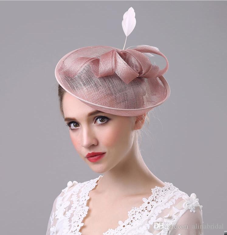 Hohe Qualität Haar Blume Braut Hüte für Hochzeit Mütter Hüte Weihnachten Schleier Hairbands Vintage Haarschmuck Braut Kopf Hüte